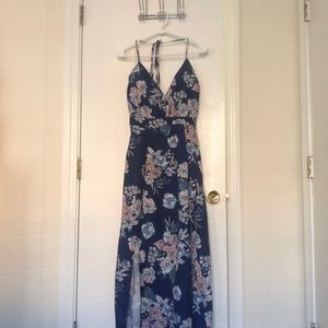 Parisian Halter top maxi dress, US size 10